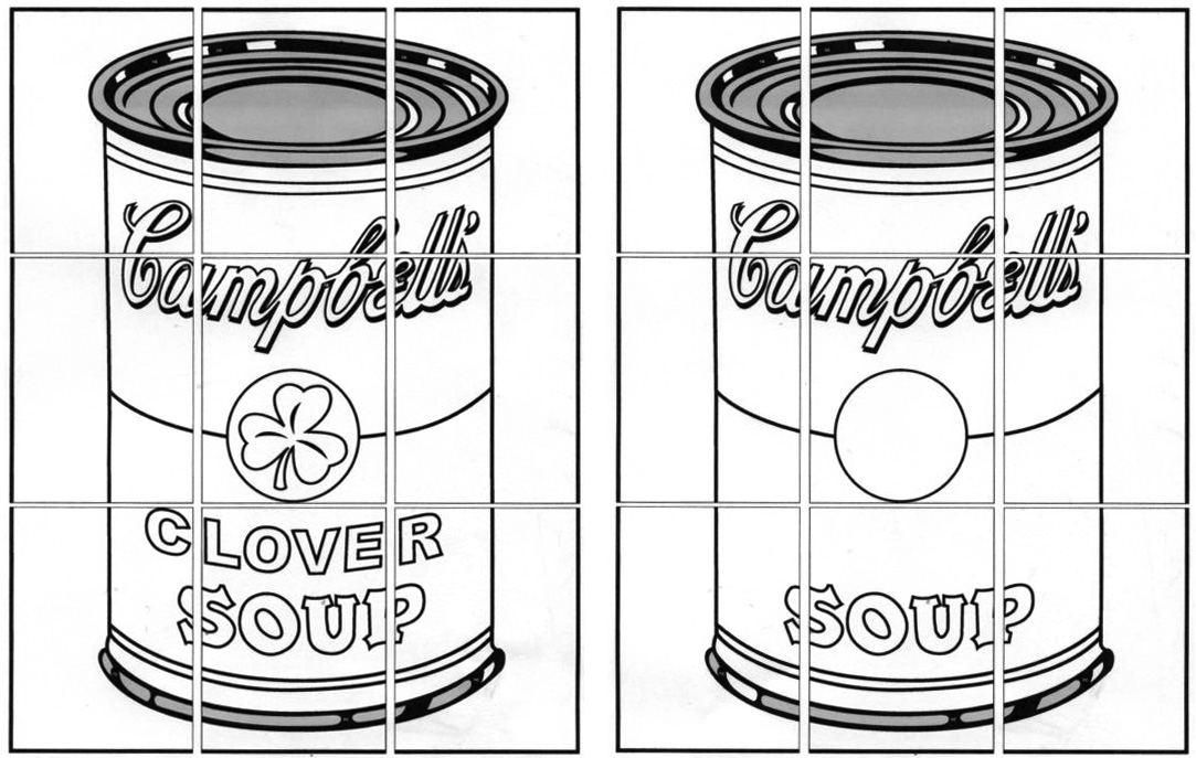 Pop Art Printable Colouring Page